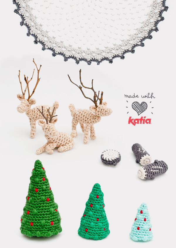 Amigurumi pattern: crochet Christmas micro world