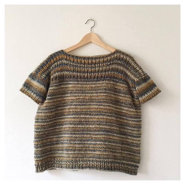 Reversible Knitting Stitches In The Round : Craft Lovers   Lus challenges and her oversize seamless reversible jumper