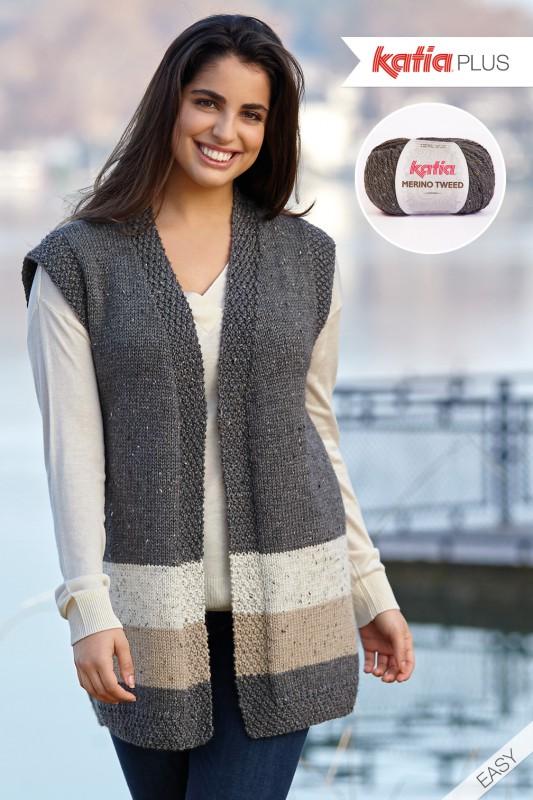 Katia Knitting Patterns : Katia Plus: knit patterns for sizes 16 to 26