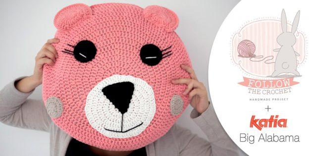 Crochet Bear Cushion