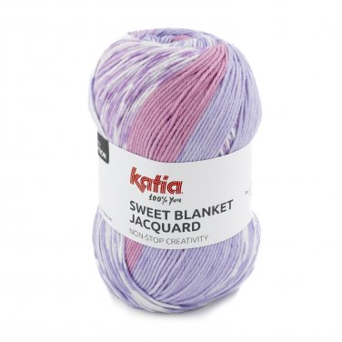 SWEET BLANKET JACQUARD - Rosé-Lila - 300