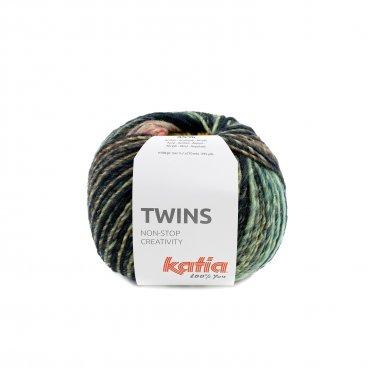 TWINS - Turquoise-Geel-Koraal - 156