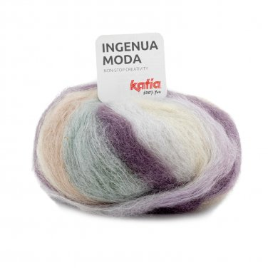 INGENUA MODA - Pale green-Pastel blue-Very light beige - 100