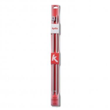 Agujas de Aluminio de 30 cm nº 4 de Katia