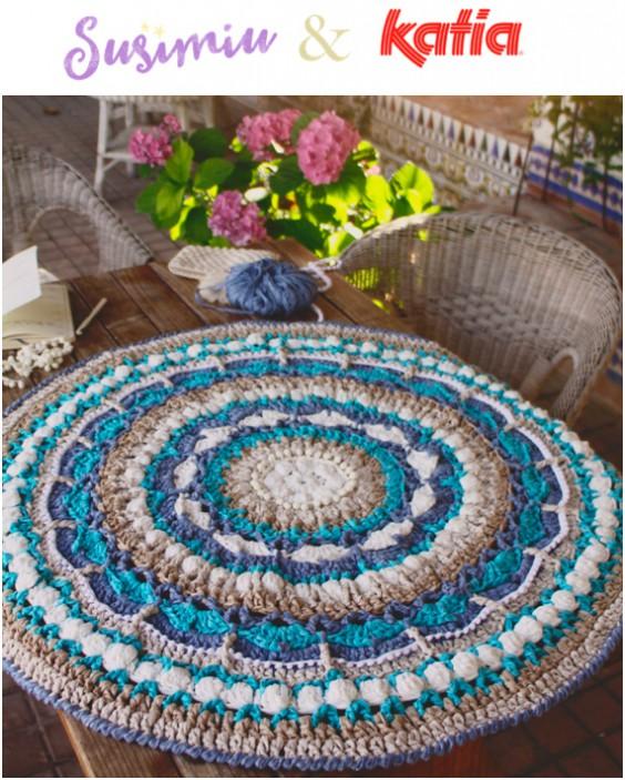 Craft Lovers Mandala Teppich Aus Washi Von Susimiu