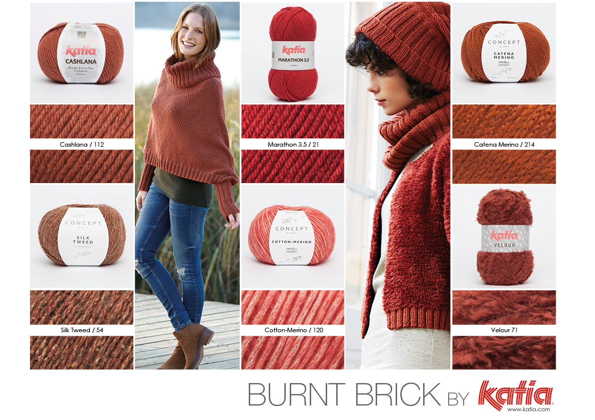 Hochwertig Collage Colors Burnt Brick Trends Aw16177
