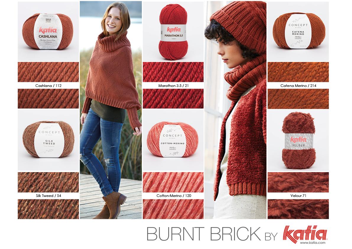 Elegante Backstein Farbe, Sehr Warm Und Herbstlich Rot Orange. Diese  Ziegel Farbe Erhalten Sie In Katia Cashlana Farbe 112 / Silk Tweed Farbe 54  / Marathon ...