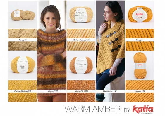 Collage Colors Warm Amber Trends Aw16176