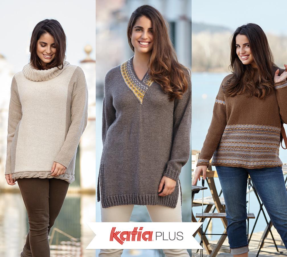 Katia Plus: Strickanleitungen für die Größen 46 bis 56
