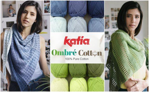 Lace Tuch Mit Ombré Effekt Aus Einer Packung Katia Ombré Cotton