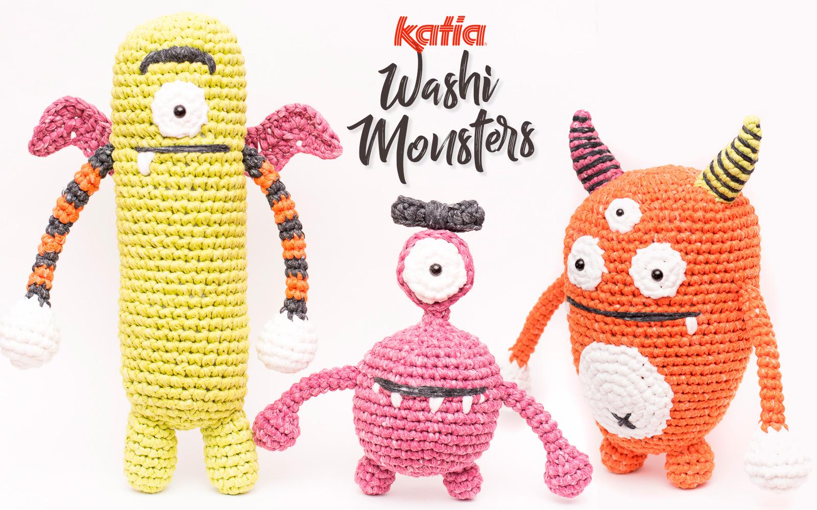 Amigurumi Monster Die Du Zu Halloween Aus Katia Washi Häkeln Kannst