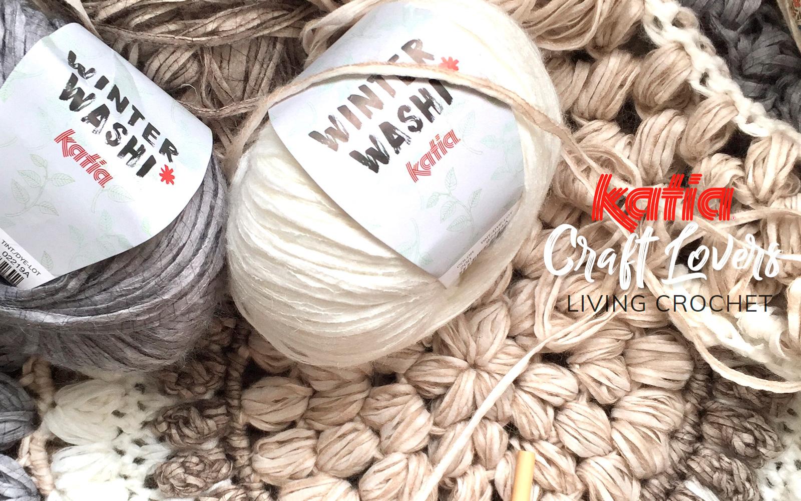 Living Crochet zeigt dir, wie man aus Winter Washi einen Teppich häkelt