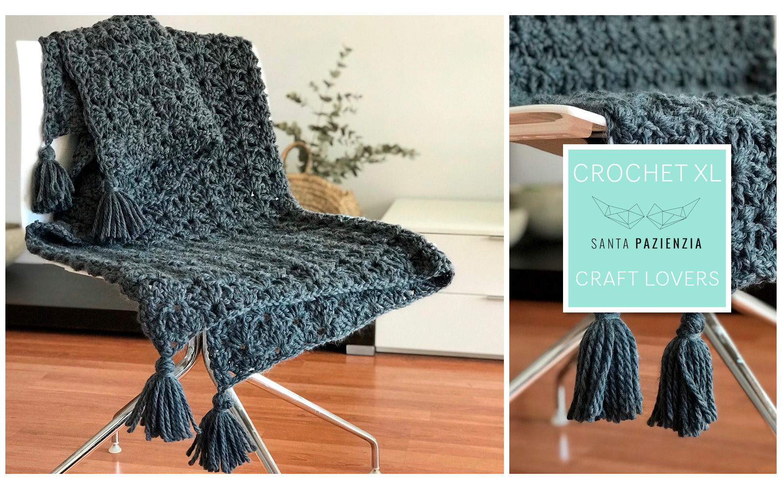 Crochet Xl Mit Santa Pazienzia Häkle Eine Wunderschöne Decke