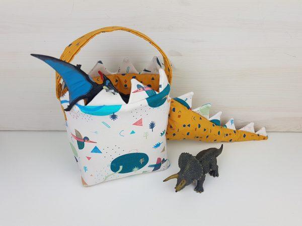 halloween-diy-Dinosaurier-Korb