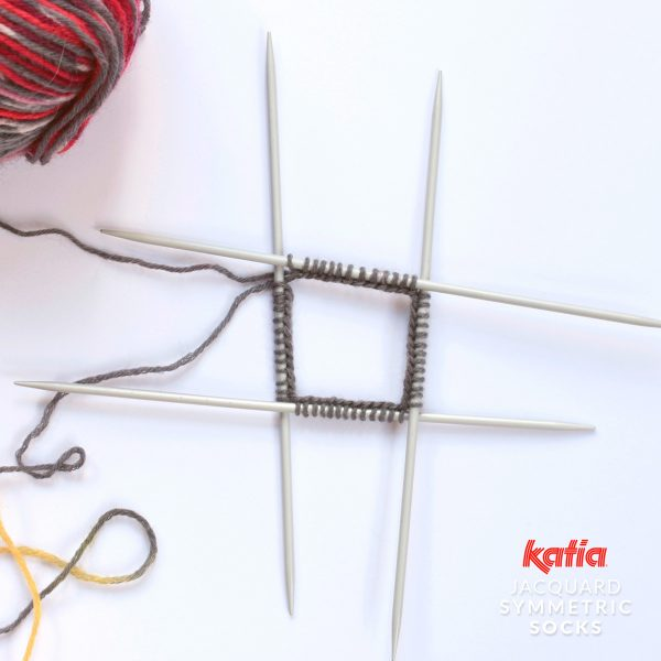 Katia-Socken-Tutorial-Anschlag-4-Nadeln