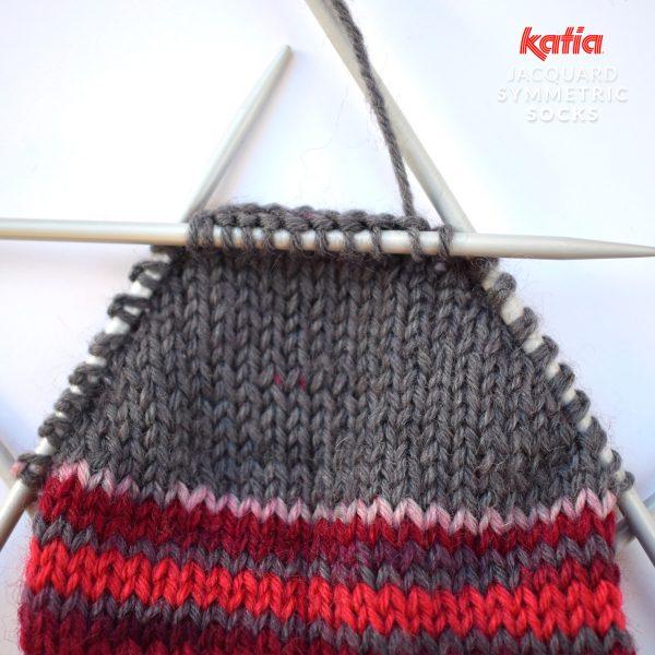 Katia-Socken-Tutorial-ferse-verkürzte-Reihen