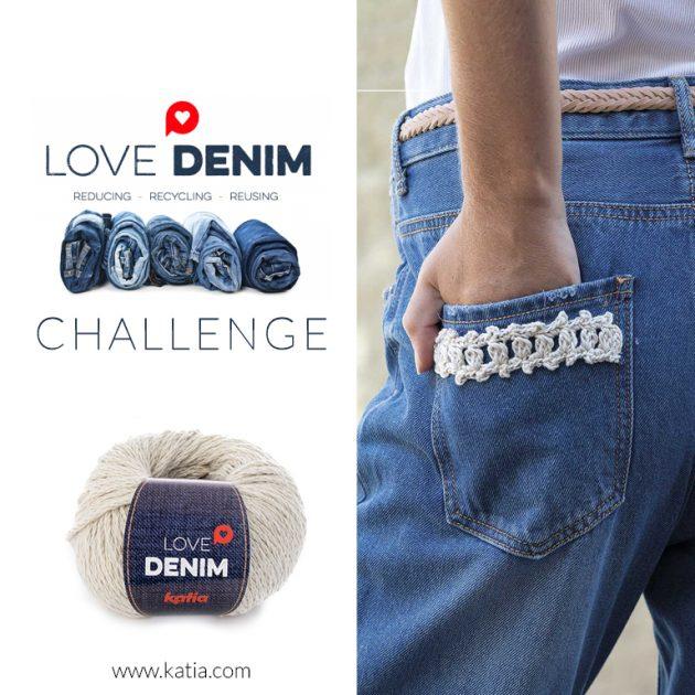 Katia-Challenge Love Denim-nachhaltige Garne-Upcycling