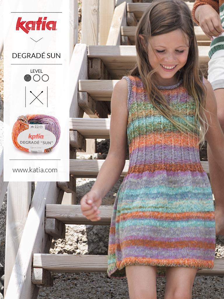 Stricken-Sommertrends-für-Kinder-Multicolor-Kleid