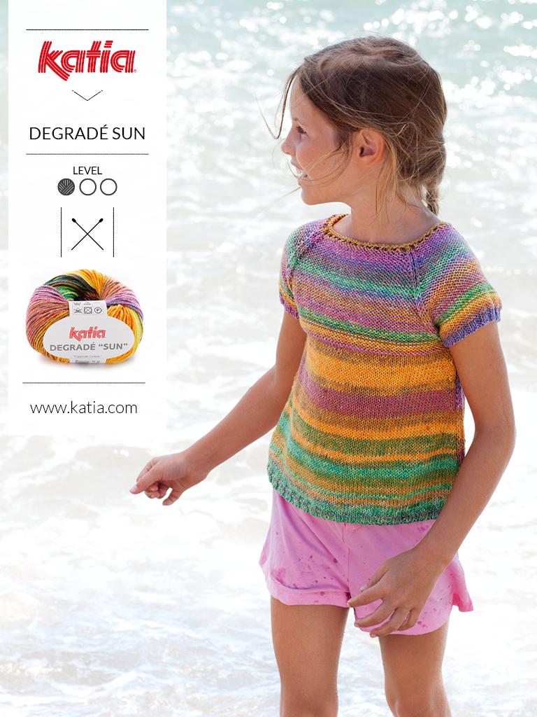 Stricken-Sommertrends-für-Kinder-Multicolor-Top