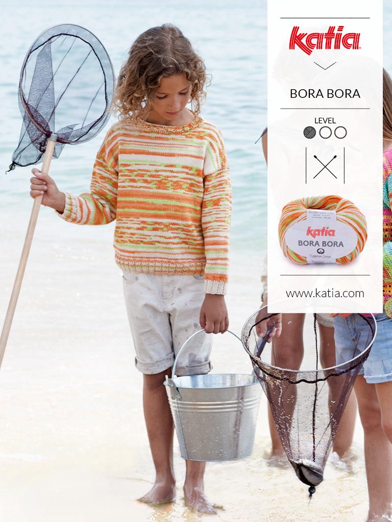 Stricken-Sommertrends-für-Kinder-Multicolor-Pulli
