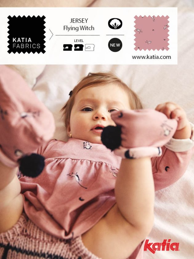 Stoffe-und-Garne-kombinieren-Stricken-Nähen-Babyset-Kleid