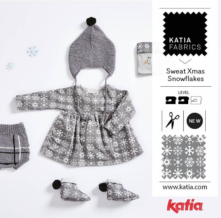 Stoffe-und-Garne-kombinieren-Stricken-Nähen-Baby-Kleid-Mütze