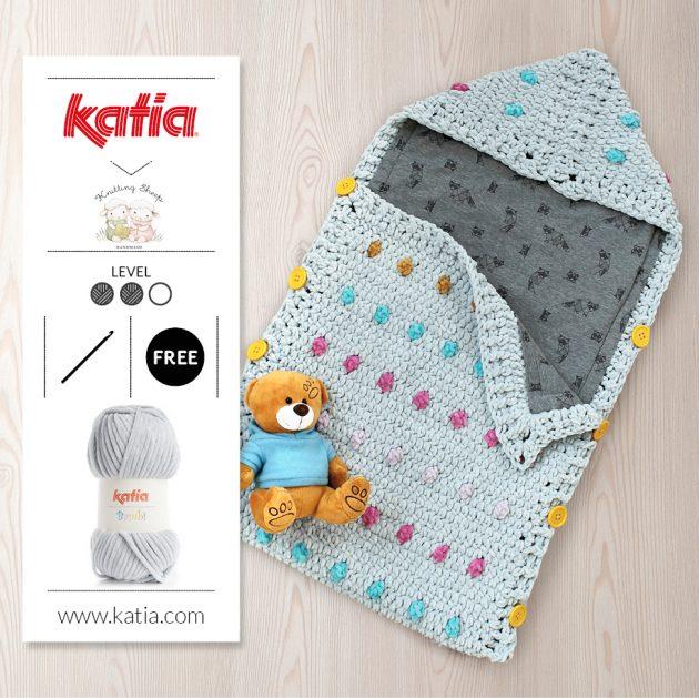 Babyschlafsack-häkeln-Bambi-Universal-Anleitung-Futter-nähen
