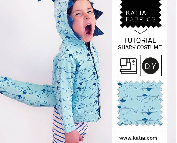 Haifisch-Kostüm-nähen-Sweatstoff-Tutorial