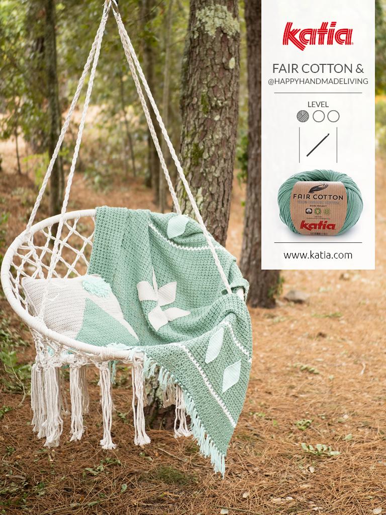 Magazin-Fair-Cotton-Crochet-Decke-Kissen-häkeln