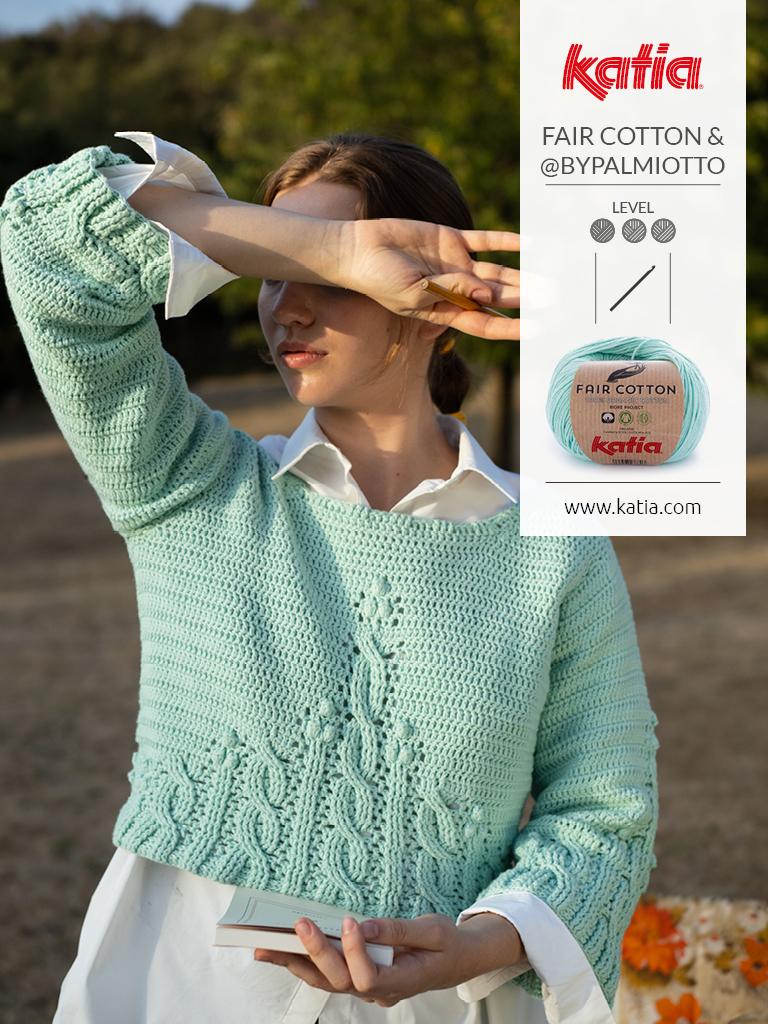 Magazin-Fair-Cotton-Crochet-Pulli