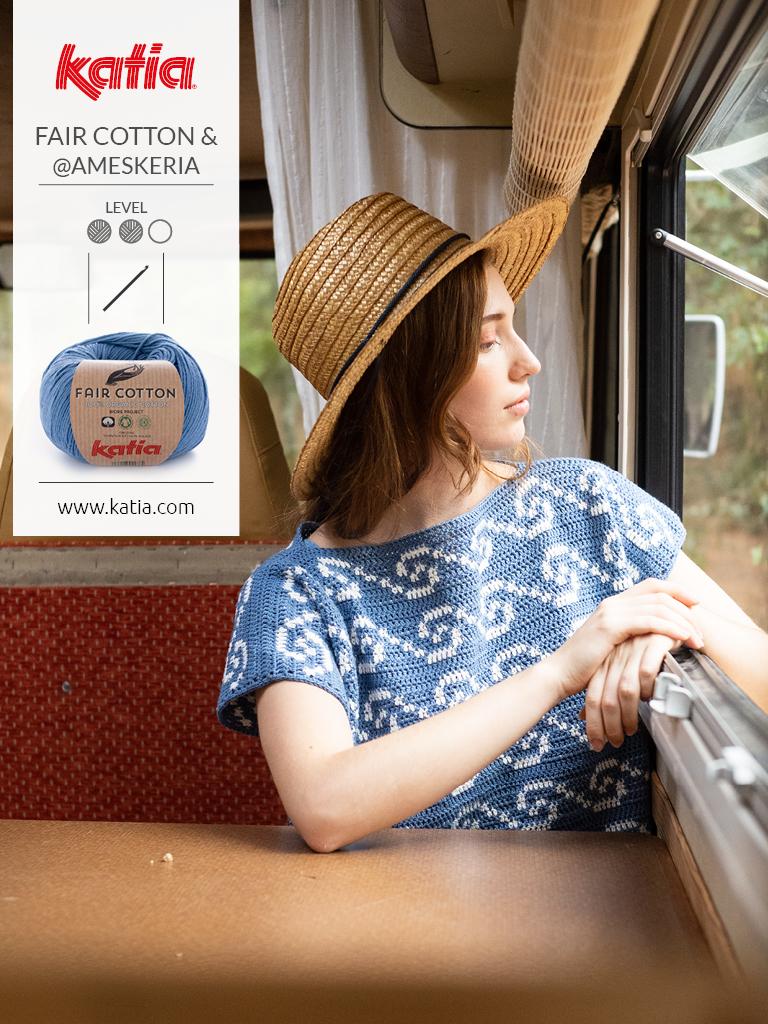Magazin-Fair-Cotton-Crochet-Top-Tapestry-Häkeln