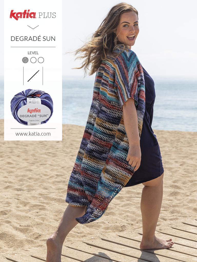 Katia-Plus-Mode-für-große-Größen-Longjacke-stricken