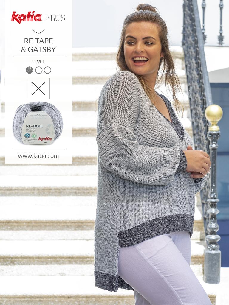 Katia-Plus-Mode-für-große-Größen-Pulli-stricken