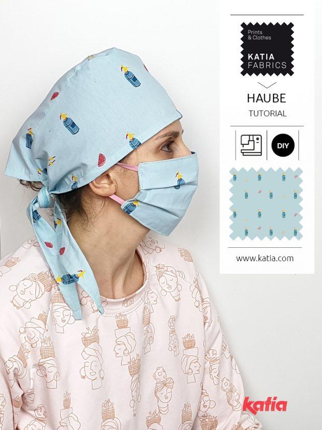 medizinische-haube-nähen-op-haube-