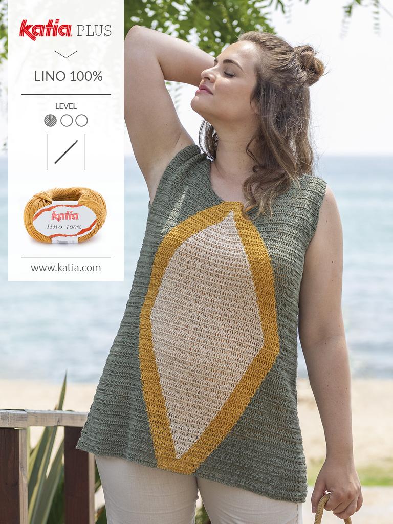 Katia-Plus-Mode-für-große-Größen-Top-Häkeln