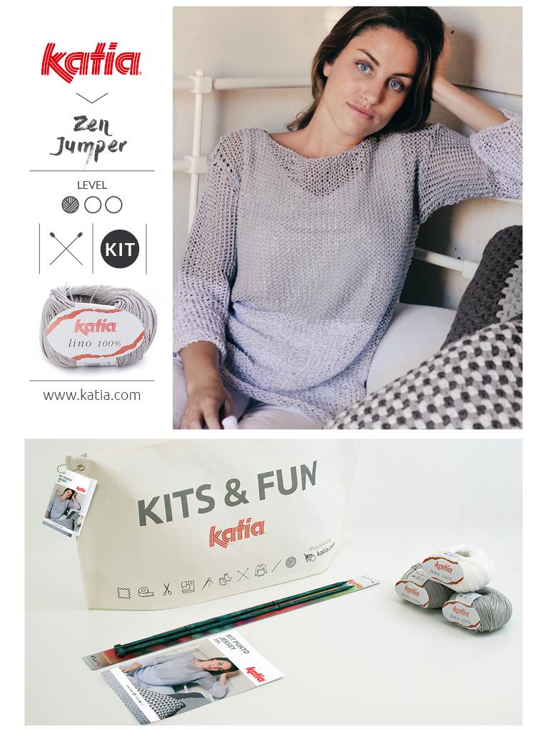 Kits-für-Anfänger-Stricken-Damen-Pullover