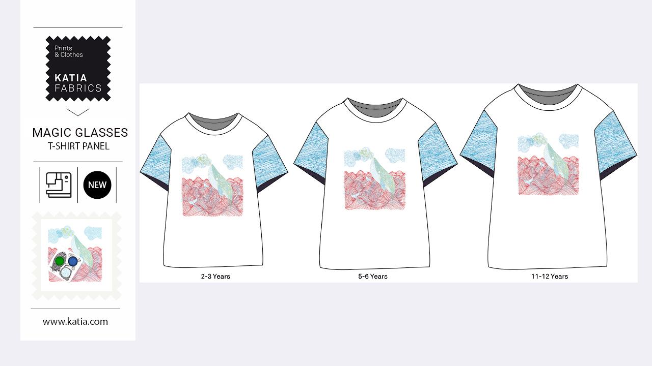 T-Shirt-Panel-Nähen-Kinder-Jersey