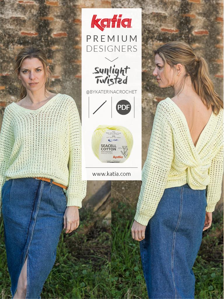 Pulli-mit-verknotetem-Rücken-Sunlight-Twisted-Katia-Premium-Designers