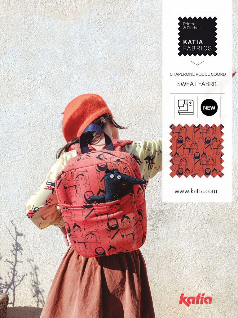 Katia-Fabrics-HW2021-Kollektion-Rotkäppchen-Sweatstoff-Rucksack