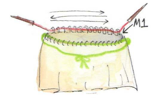 Trägertop-in-Runden-stricken