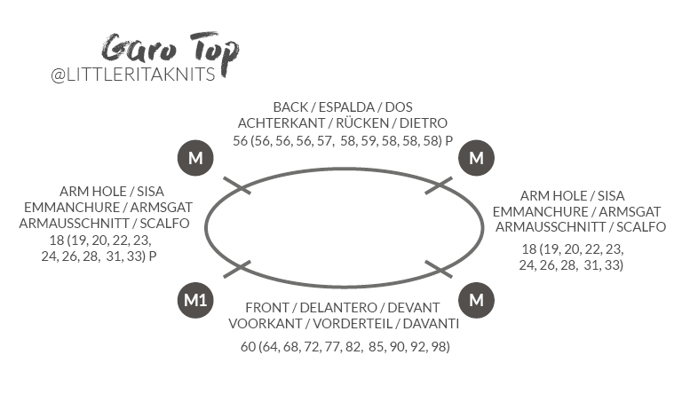 Trägertop-stricken-Garo-Top-Rundstricknadel