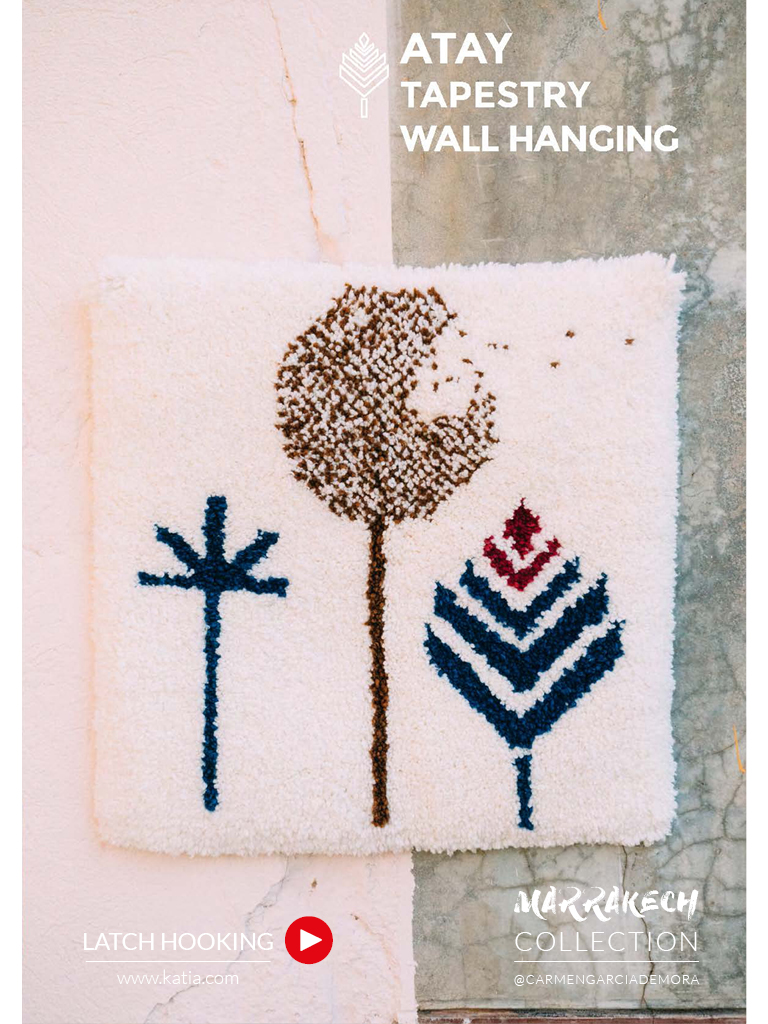 Marrakech-Collection-Techniken-der-Textilgestaltung-Latch-Hooking-Wandbehang