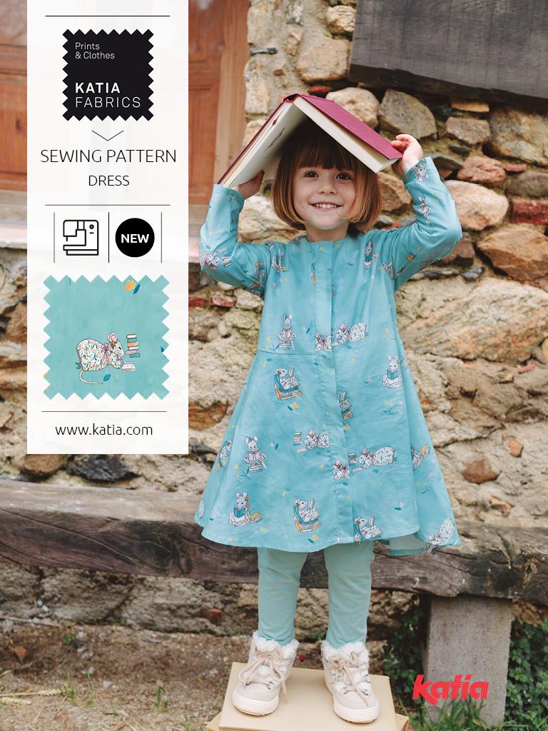 ORIGINS-Nähmagazin-Katia-Fabrics-Schnittmuster-Kinder-Kleid