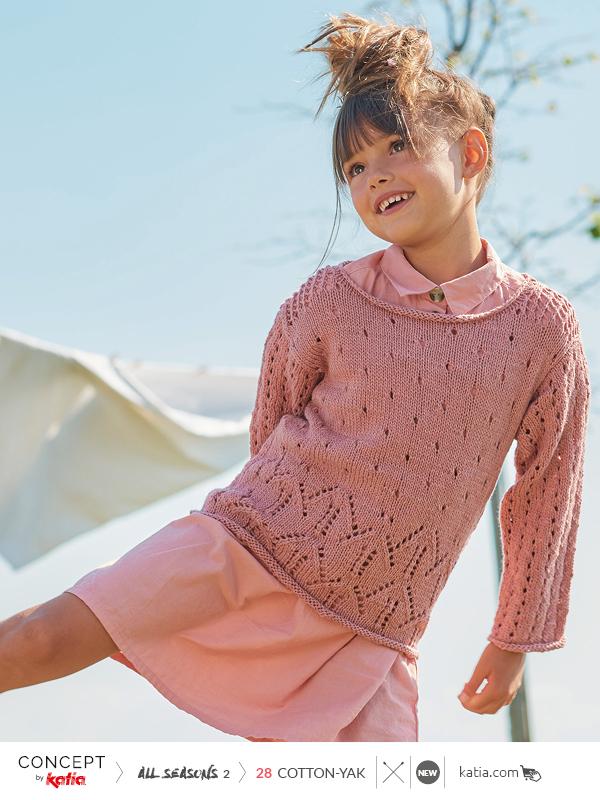Katia-All-Season-2-Magazin-Cotton-Yak-Kinder-Pulli-Ajourmuster