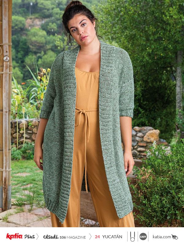 Anleitungen-zum-Stricken-große-Größen-Long-Jacke