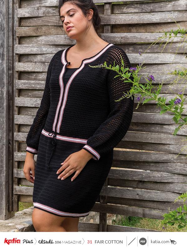 Anleitungen-zum-Häkeln-große-Größen-Kleid