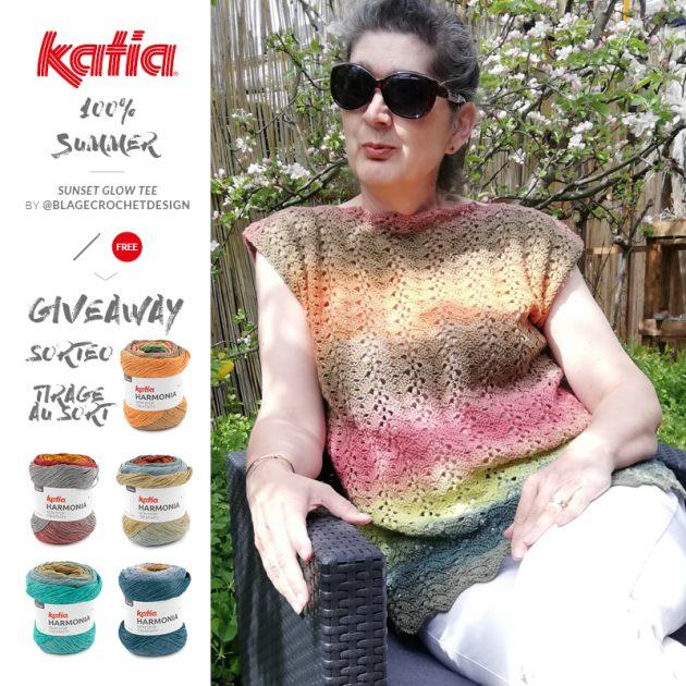 gehäkeltes-Shirt-Sunset-Glow-Tee-Katia-Harmonia-blage-crochet