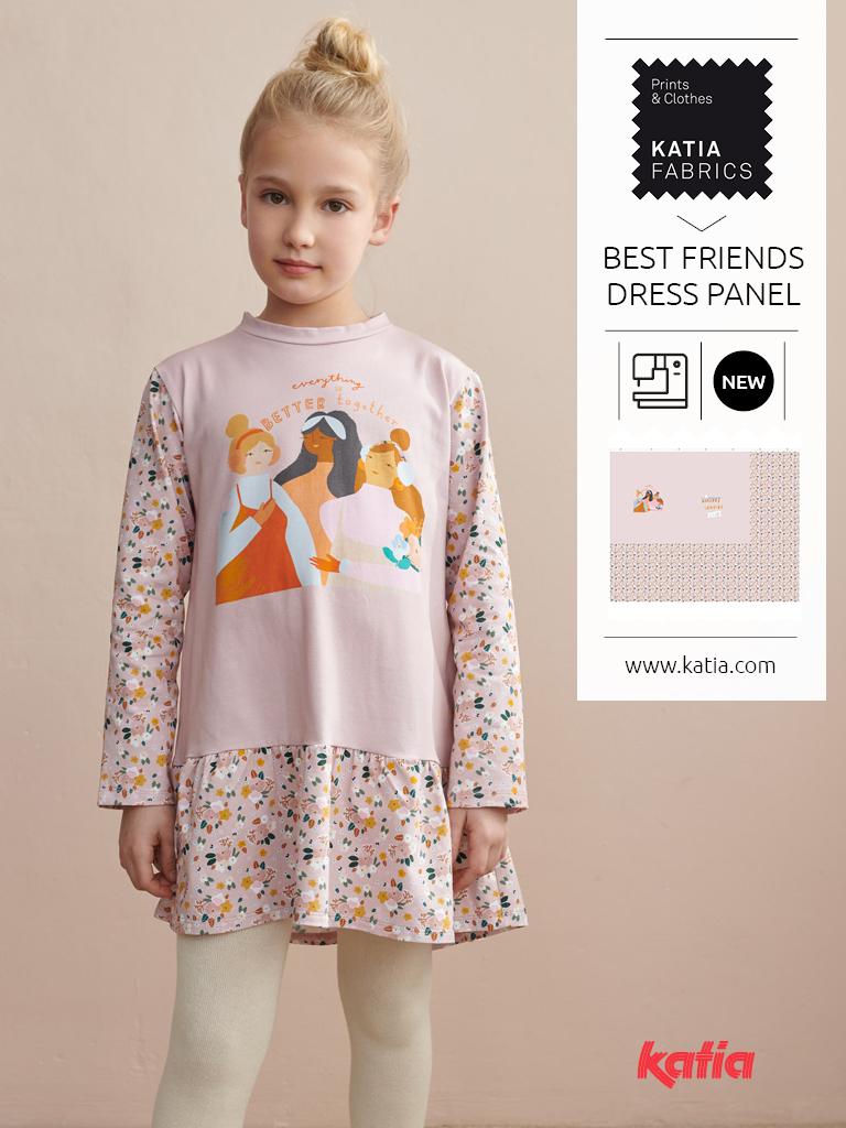 Katia-Fabrics-Kollektion-miniMe-Herbst-Winter-2021-22-Panel-T-Shirt-Kleid
