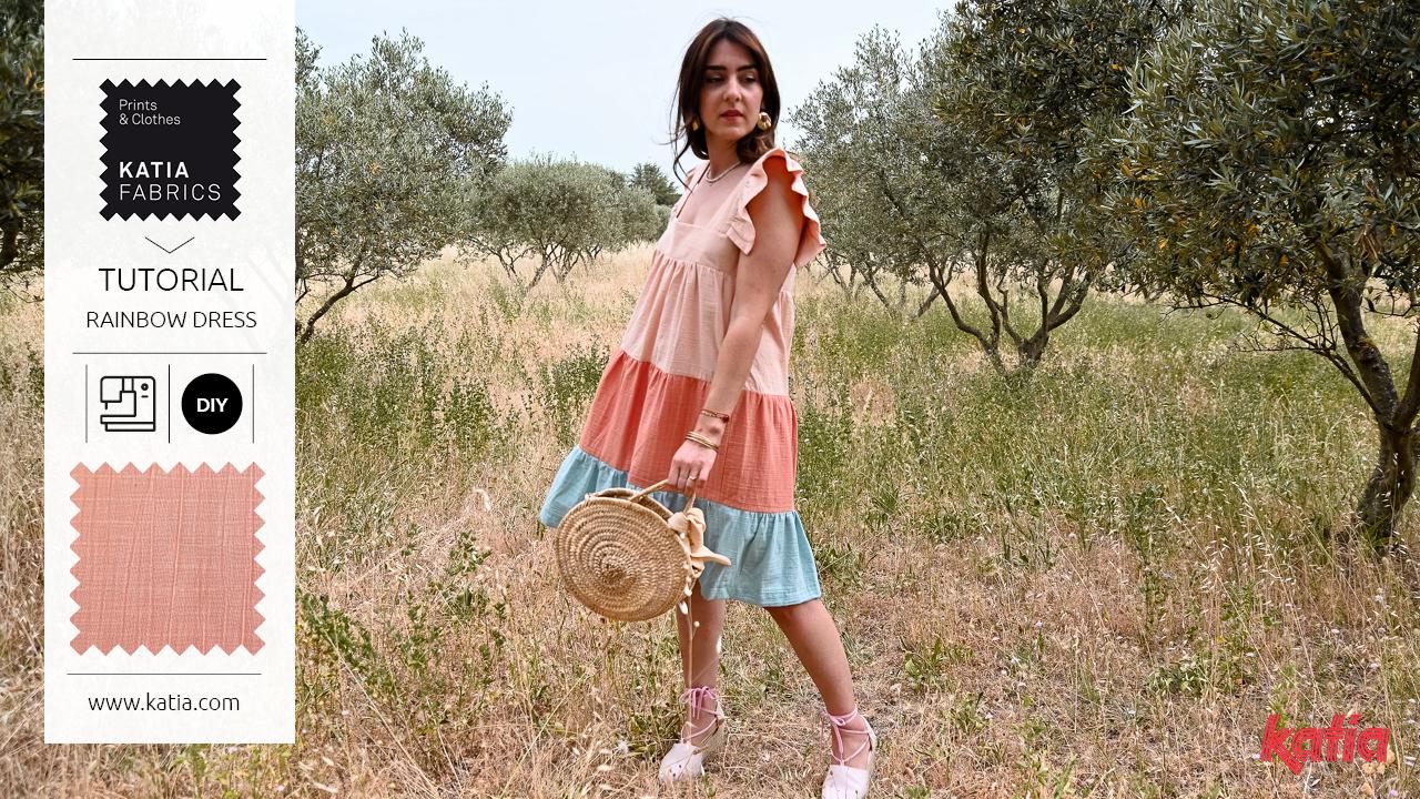 Volantkleid-nähen-Tutorial-Rüschen-Katia-Fabrics-Lovers