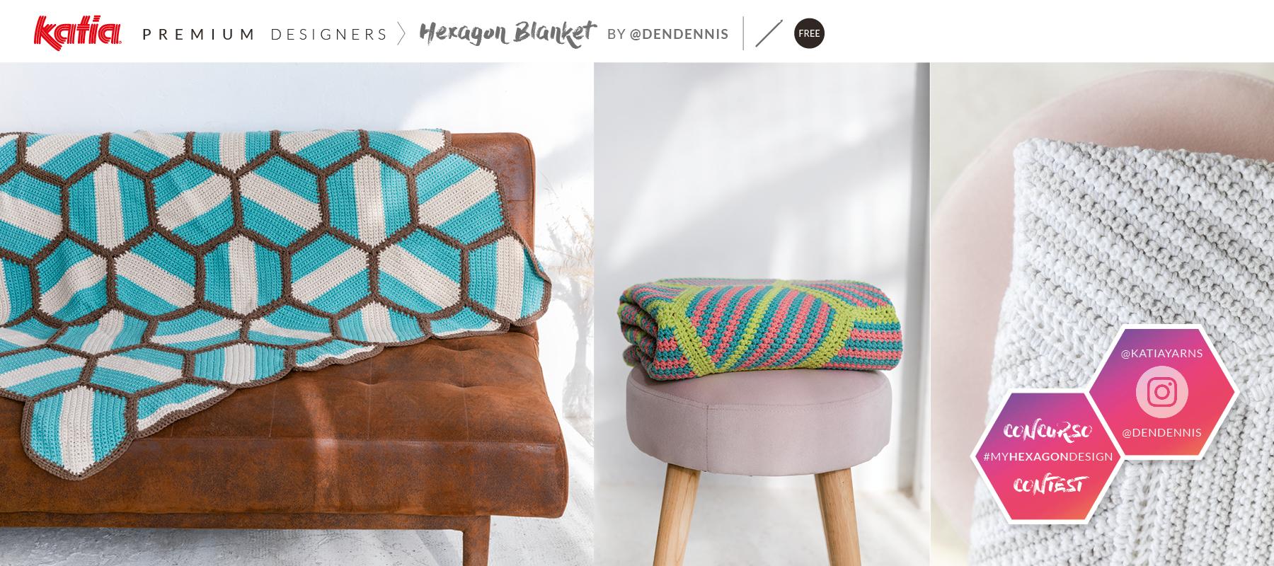 Hexagon-Blanket-Häkeldecke-Sechsecke-Anleitung